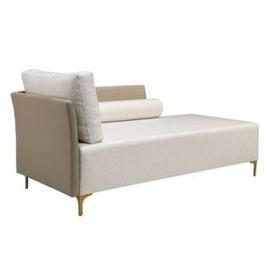 Chaise com lateral em couro Way empório vila rica